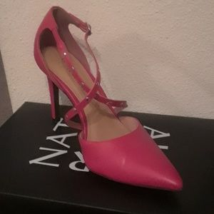 Red heels, size 7.5